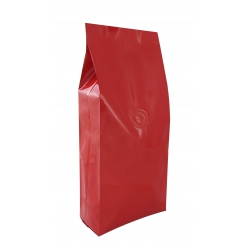 1 lb Gusseted Bag- Glossy Red with Valve(FQ-10613D)