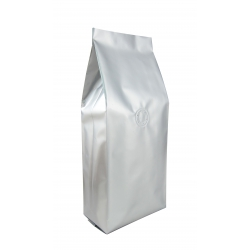 1 lb Gusseted Bag- Glossy Silver with Valve(FQ-10616D)