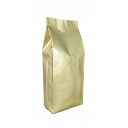 2.2lb Gusseted Bag- Glossy Gold with  Italy Valve(FQ-30101A)