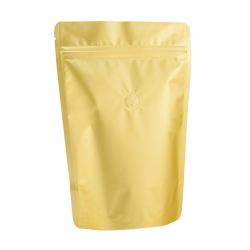 1 lb Stand Up Bag - Matte Golden with Valve(FQ-12101MD)