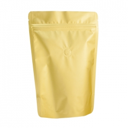 1/2lb Stand Up Bag - Matte Golden with Valve(FQ-22101MD)