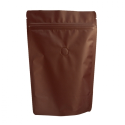 1/2lb Stand Up Bag - Matte Brown with Valve(FQ-22104MD)