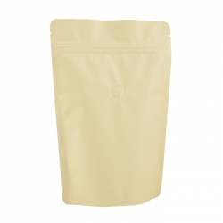 1/2lb Stand Up Bag - Matte Cream with Valve(FQ-22109MD)