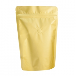 1/4lb Stand Up Bag - Matte Golden with Valve(FQ-24101MD)