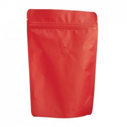 1/4lb Stand Up Bag - Matte Red with Valve(FQ-24103MD)