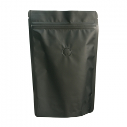 1/4lb Stand Up Bag - Matte Black with Valve(FQ-24105MD)