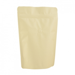 1/4lb Stand Up Bag - Matte Cream with Valve(FQ-24109MD)