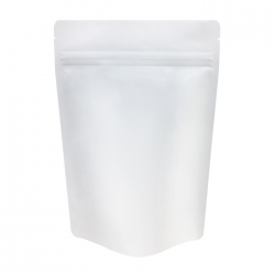 1 lb Stand Up Bag - Matte White with Valve(FQ-12100MD)