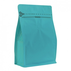 1/2lb  Zipper Box Pouch Turquoise with Valve(FQ-28815MD)