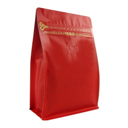 1/2lb Zipper Box Pouch Red with Valve(FQ-28803MD)