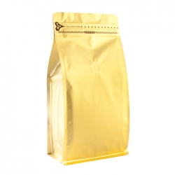 1 lb Zipper Box Pouch Golden with Valve(FQ-18801MD)