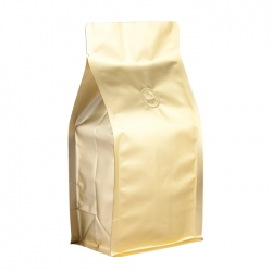 1/2lb Box Pouch-Matte Gold with Valve(FQ-26801MD)