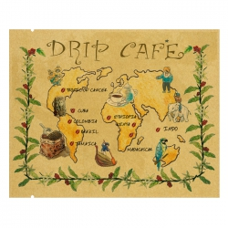 Drip Coffee Bag-World Map Pattern-Kraft(FE-31107)