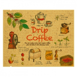 Drip Coffee Bag-Grow Up Pattern-Kraft(FE-39207)