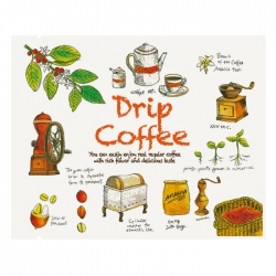 Drip Coffee Bag-Grow Up Pattern-White Kraft(FE-39208W)