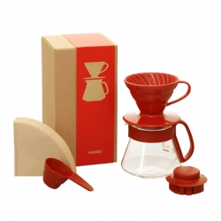 Hario Dripper & Pot -Red For 1-2 Cups