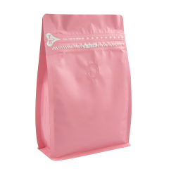 1/2lb  Zipper Box Pouch Pink with Valve(FQ-28816MD)