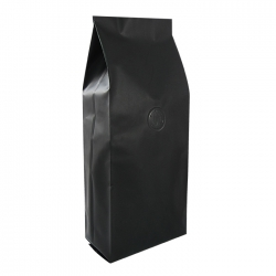 1 lb Gusseted Bag- Matte Black with Valve