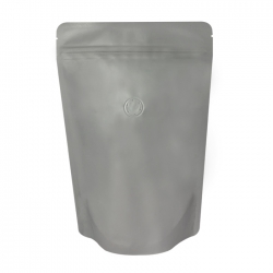 1/4lb Stand Up Bag - Matte Gray with Valve(FQ-24117MD)