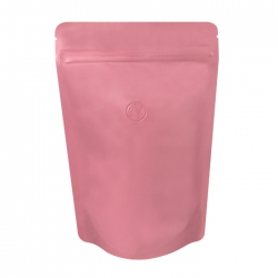 1/4lb Stand Up Bag - Matte Pink with Valve(FQ-24116MD)