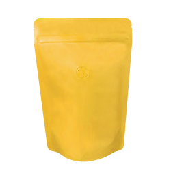 1/2lb Stand Up Bag - Matte Yellow with Valve(FQ-22119MD)