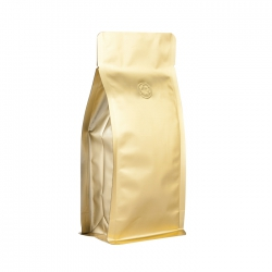 1/4lb Box Pouch-Matte Gold with Valve(FQ-46801MD)